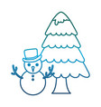 snowman icon image vector image