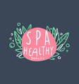 spa healthy and beauty logo emblem for wellness vector image vector image