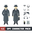 Spy Character Pack vector image vector image