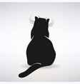 stylized silhouette a sitting cat vector image vector image