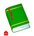 top view of closed book vector image vector image