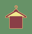 towel on hanger sign cordovan icon and vector image vector image