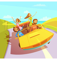 Traveling Friends vector image vector image