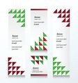Triangle pattern Christmas Styles color vector image vector image