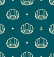vintage seashell pattern vector image vector image