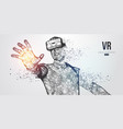vr headset virtual reality glasses vector image vector image