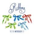 Watercolor ribbons vector image