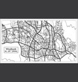 windhoek namibia city map in retro style outline vector image