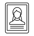 woman online learning icon outline style vector image vector image