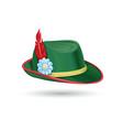 oktoberfest hat tyrolean bavarian hat vector image