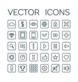 Game linear icons set vector image