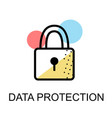 closed lock icon for data protection flat design vector image