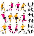 soccer football children boys playing vector image