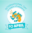 10 April International day vector image vector image
