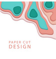 Abstract background in paper art style banner