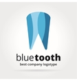 Abstract dental tooth logotype concept isolated on vector image vector image