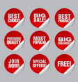 advertising discount stickers vector image vector image
