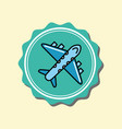 airplane transport cartoon emblem image vector image vector image