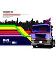 al 0549 truck 01 vector image vector image