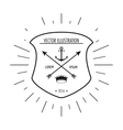 anchor and arrow icon Hipster Style design vector image vector image