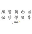 animals outline flat style vector image vector image