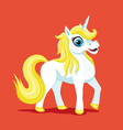 beautiful cute unicorn vector image vector image