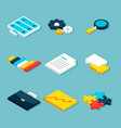 big data analytics isometric objects vector image vector image