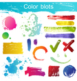 blots set vector image vector image