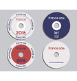 Brand identity elements - CD DVD templates sign vector image vector image