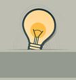 bulb symbol label design vector image vector image