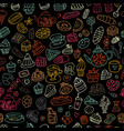 cakes and sweets seamless pattern for your design vector image vector image