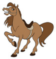 cartoon farm animals cute horse smiles eps 10 vector image vector image