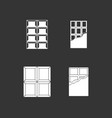 chocolate icon set grey vector image