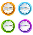 circle color banner - business infographic vector image