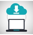 computer cloud download connection network vector image vector image