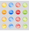 Computer keyboard Icon Set colourful buttons vector image vector image