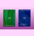cover templates with volumetric colored curls vector image