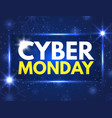 cyber monday sale banner good deal promotion vector image