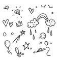 doodle kid element vector image vector image