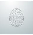 Easter egg 3D shape vector image vector image