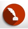feather pen web icon vector image