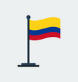 flag of colombiaflag stand vector image vector image