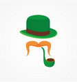 flat design icon for saint patricks day vector image