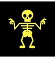 flat icon on background halloween skeleton vector image vector image