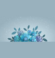 flower composition for mailing list vector image vector image