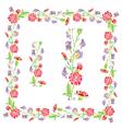 flower frame 7 380 vector image vector image