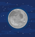 full moon in space in flat style vector image vector image