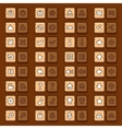 Game menu icons wooden buttons set vector image