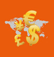 global money economy vector image