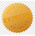 gold extreme award stamp vector image vector image
